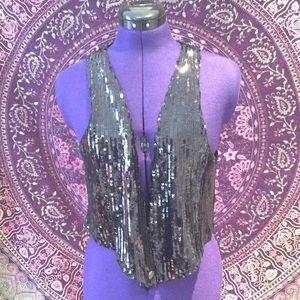 ❤️Guess black sequined vest
